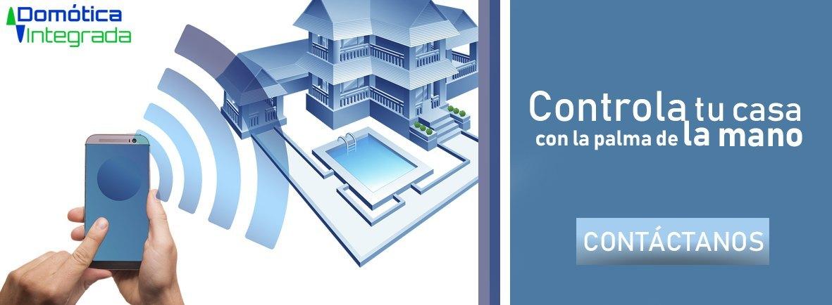 Controla tu casa con la Palma de la mano. Contacta con nosotros. Somos Domótica Integrada 91 771 02 48 info@domoticaintegrada.com